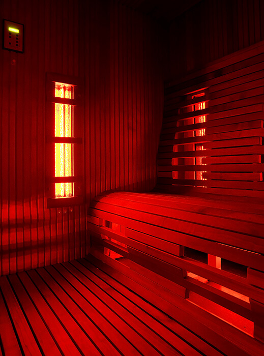 inside of a sauna